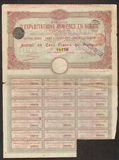 EXPLOITATIONS MINIERES EN SERBIE en 1906