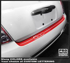 Fiat 500 2007-2015 Sport Rear Bumper Top Highlight Stripe Decal (Choose Color)