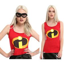 Disney Pixar The Incredibles JRS Ladies Tank Top Costume Cosplay Tee Shirt NWT
