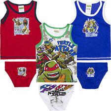 UFFICIALE Teenage Mutant Ninja Turtle Canotta e Pantaloni/Breve Set 2-3 4-5 6-8 anni