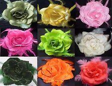 paillette fleur rose grand élastique pour les cheveux poignet Corsage & Broche