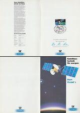 Klappkarte 21.11.87 Europ. Satellitentechnik, Start TV-SAT 1 Kourou (MiNr.1290)