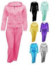 Filles à capuche velours poche zip jogging bas costume survêtement