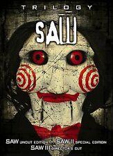 Saw Trilogy W/ Raised 3D Jigsaw Slip (2005, 6-DVD Set, Lionsgate)