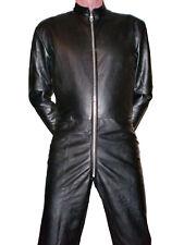 LEDERANZUG neu  Lederoverall schwarz Overall Anzug leather Catsuit Lederkombi