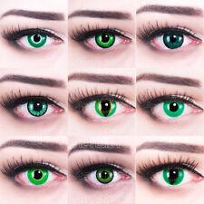 Grüne farbige Kontaktlinsen Monster Kobold Dämonen Kontaktlinsen für Halloween