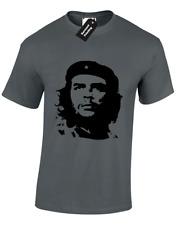 Che Guevara Face Mens Camiseta Ejército Cuba libertad política Caballeros