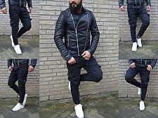 Young Mode Herren Street Kargo Rocker Biker UK STYLE Jeans Röhre Hose Skinny Fit