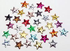 Hotfix Sterne 8mm 15 Farben Nailheads Bügel-Nieten Metall Studs zum Aufbügeln
