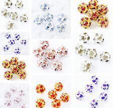 3 Genuine Preciosa Czec Rhinestone Balls Amazing Beads CHOOSE COLOR!!