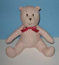"BABY GAP 11"" Pudgy Pin Stripes Plush Teddy Bear"