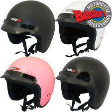 Tuzo Jet Open Face Motorcycle Scooter Motorbike Crash Helmet