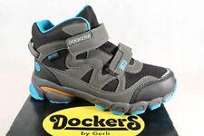 Dockers Jungen Stiefel Stiefeletten Boots schwarz/ grau TEX KV NEU