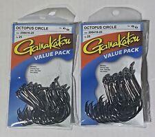 02410-25 NEW GAMAKATSU #024 OCTOPUS NSB VALUE PACK 25 HOOKS SIZE 1