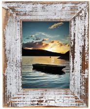 Bilderrahmen aus echtem Alt-Holz im Landhaus-Stil vintage, rustikal Schwarz-Weiß