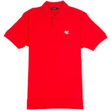 Senlak Camisa Polo-Rojo-Inglaterra, el anglosajón, Dragón Blanco, Rune, patriótico