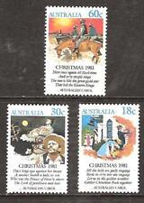 Australia # 811-3 Mnh Christmas Carols Music Songs