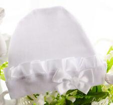 Weiße Baby Mütze Erstlingsmütze Mützchen 50 56 62 68 NEU Weiß Taufe Unisex