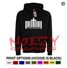 Purchased Cross Christian Hoodie Black Sweatshirt Jesus Religious Worship Faith