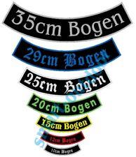Aufnäher unterer Bogen BOG 2 mit Wunschtext Patch Rückenaufnäher Biker Kutte MC