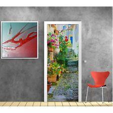 poster poster per porta - Vicolo fiorito 725 Art déco Adesivi
