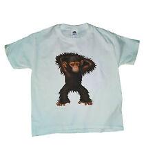 Baby Chimp T-shirt Boys Girls White Sizes S-XL Ape Monkey Chimpanzee Animal