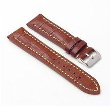 DASSARI Concord Rust Leather Watch Band Croc Strap fit Breitling Navitimer World
