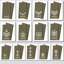 REME Rank Slides Olive Green Royal Electrical & Mechanical Engineers Badges