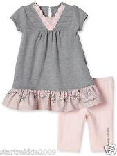Calvin Klein Jeans Baby Girls Eyelet 2 Pc Set:Tunic & Leggings. Sz.12-18-24. NWT