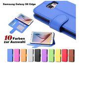 Samsung Galaxy S6 Edge Etui Tasche Hard Cover Hülle Flip Case Schale Farbwahl