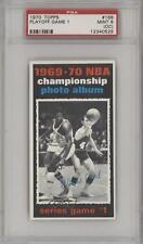 1970 Topps 168 1969-70 NBA Championship (Game 1) PSA 9 MINT (OC) New York Knicks