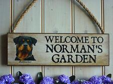 Personnalisé rottweiler signe rottie chien jardin signe fence signe chien inscription bienvenue
