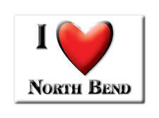 SOUVENIR USA - NEBRASKA FRIDGE MAGNET AMERICA I LOVE NORTH BEND (DODGE COUNTY)