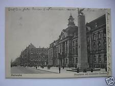 AK Karlsruhe Hauptpost mit Grenadier Denkmal 1929