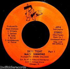MACK SIMMONS-Skin Tight Part 1 & 2-Rarer Chicago Funk Soul Dancer 45-PM #816