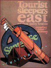 Santa Fe Railroad 1944 Tourist Sleepers East Vintage Poster Print Travel Golf