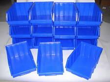 15 Stapelboxen Gr.4   Sichtlagerkästen Stapelkästen  340 x 222 x 157 mm blau PP