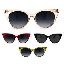 Womens Gothic Cat Eye Retro Plastic Sunglasses