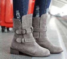 Botines botas de mujer tacón alto cm 3.5 gris caldi cómodo como piel 8998