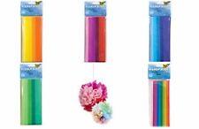 folia Seidenpapier, 500 x 700 mm, 20 g/qm, farbig sortiert verschiedene Farben