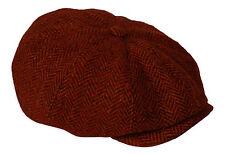 Gamble & Gunn Molloy & Sons Irish Donegal Tweed British Made Red Button Top Cap