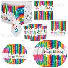 NASTRO Arcobaleno Colore Compleanno Stoviglie Gay Pride Adulti Bambini Kid BBQ Party