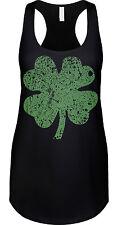 4 Leaf Clover Green St Patricks Day Proud Irish Pride Lucky Ireland Womens Tank