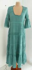 ZARA STUDIO LIMITED KLEID STICKEREI GREEN LONG EMBROIDERED DRESS 7521/090