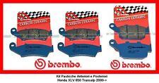 07KA1705+07HO2711 Kit Pastiglie Brembo Ant+Post Honda XRV 750 Africa Twin 1993->