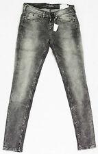 PEPE JEANS Jeans 7/8 SWAROVSKI femme slim fit gris modèle NOUGAT