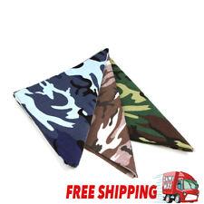 100% Cotton Camo Camouflage Military Designer Durag Bandana Scarf Bandanna