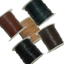 Rockin Beads 1mm Buffalo Leather Lace Round Cord 25 Yards Spool U-Pick