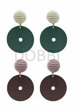 Point round drop earrings