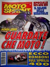 Motosprint 44 1995 Romboni sull'Aprilia 400. Honda Zodia. Parla Loris Reggiani